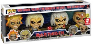 Figurine Iron Maiden / Killers / The Number of the Beast / Piece of Mind Eddie – Brillant dans le noir – 4 pack – Iron Maiden