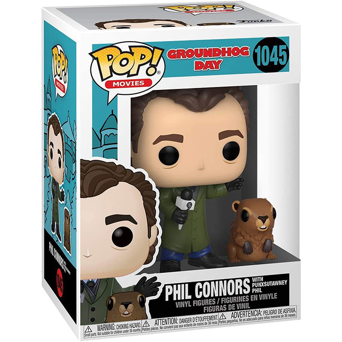 Figurine pop Phil Connors with Punxsutawney Phil - Groundhog Day - 2