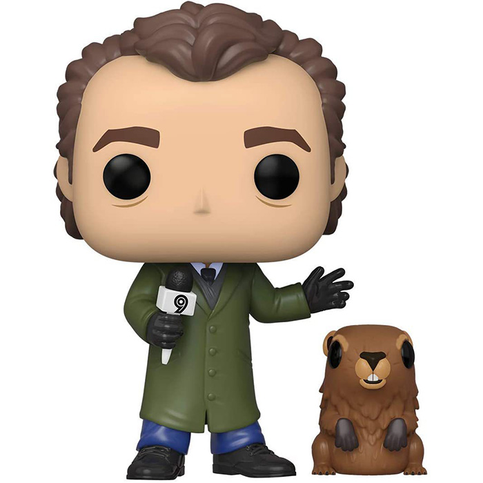 Figurine pop Phil Connors with Punxsutawney Phil - Groundhog Day - 1