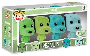 Figurine Snoopy couleur menthe – 4 pack – Floqué & Pocket – Snoopy