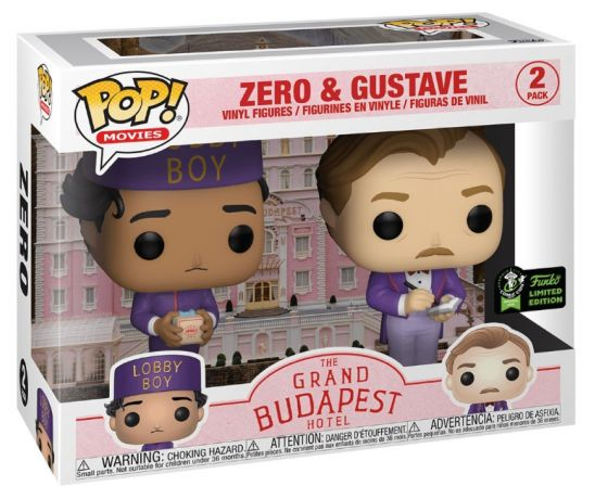Figurine Zero et Gustave – Pack – The Grand Budapest Hotel